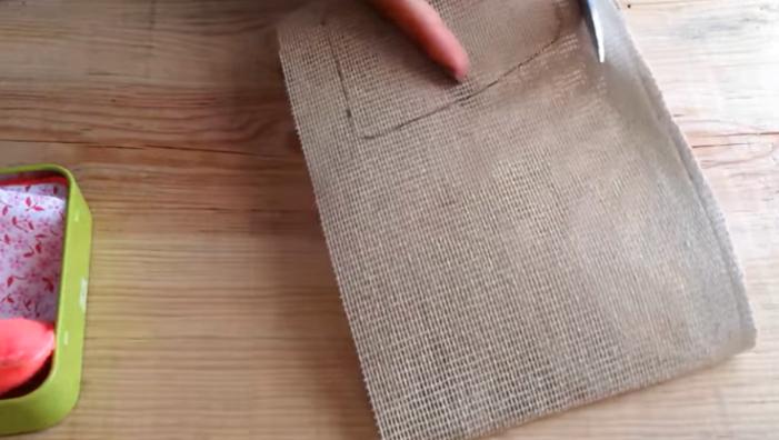 corte de cuerpo para ratoncito de tela
