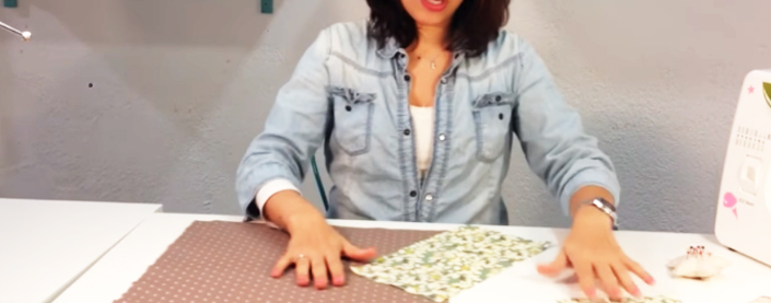 corte de tela para funda de máquina de coser