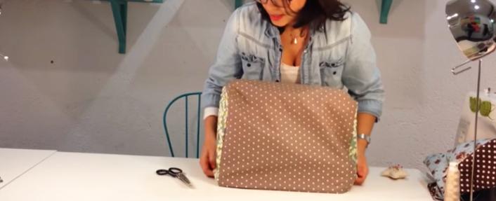 funda de tela terminada para máquina de coser