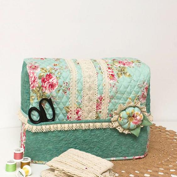Cómo hacer una funda de tela para máquina de coser.
