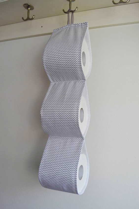 Cómo hacer un porta rollo de tela.