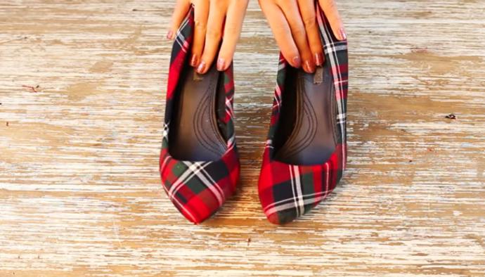 renovación de zapatos en tela