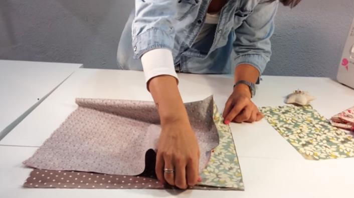 terminación de unión de telas para funda de máquina de coser
