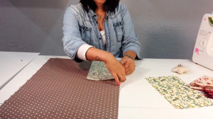 unión de tela para funda de máquina de coser