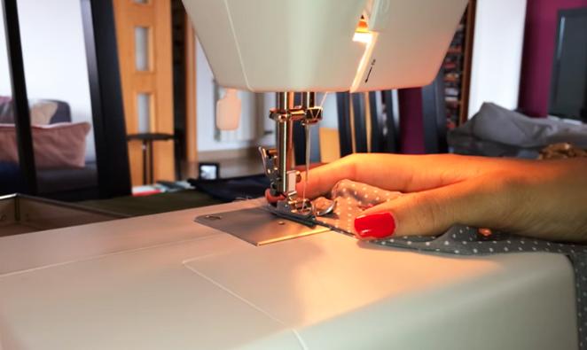 costura final de tela para gomita de pelo