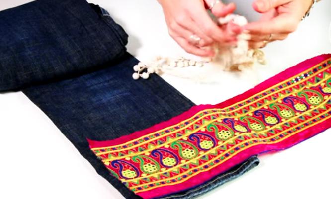 medida de tela para renovación de jean