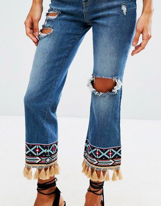 Cómo intervenir un jean con tela.