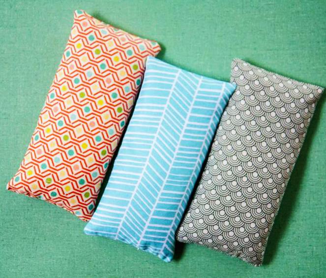 Cómo confeccionar una bolsa de tela con arroz.