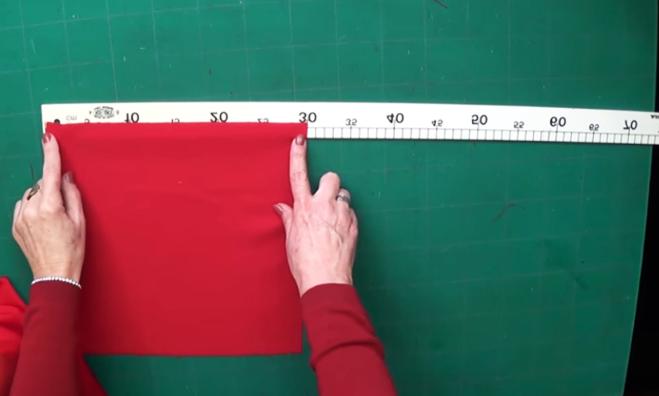 marcado y corte de tela para servilleta