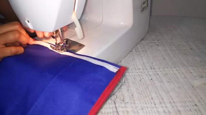 colocación y costura de segundo velcro en tela para agarraderas