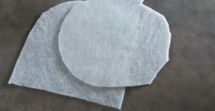 marcado y corte de relleno para apoya pava de tela