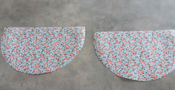 marcado y corte de tela del segundo patrón para apoya pava