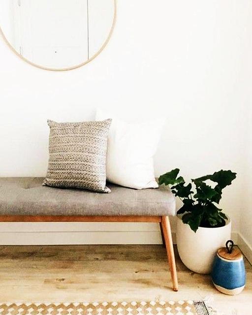 banco de madera con tela extratip