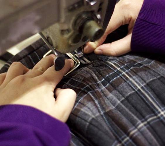 costura de piezas de tela para top