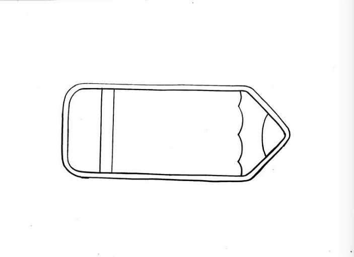 descarga y corte de patrón para funda de celular de tela en forma de lápiz