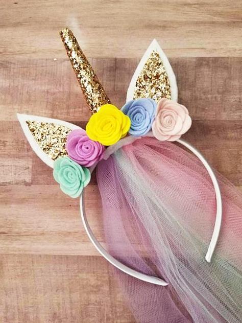 vincha de tela de unicornio extratip