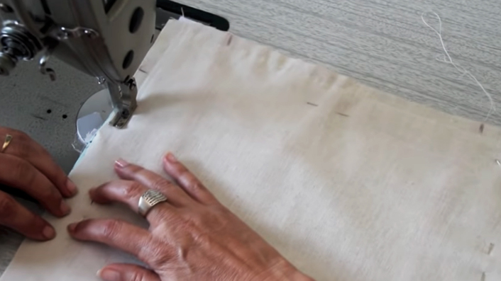 costura de piezas para panera de tela