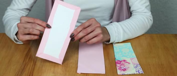 forrado de cartulina con tela para cartera
