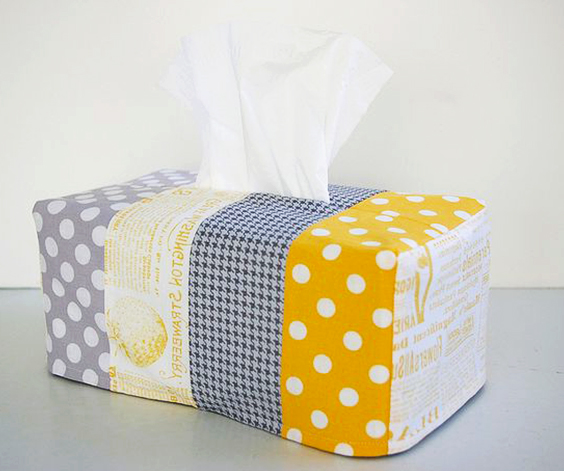 funda de tela para caja de pañuelos extratip