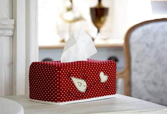 Cómo realizar una funda de tela para caja de pañuelos.