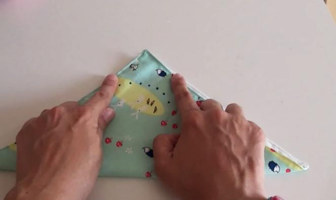 marcado de puntadas sobre tela para funda de caja de pañuelos