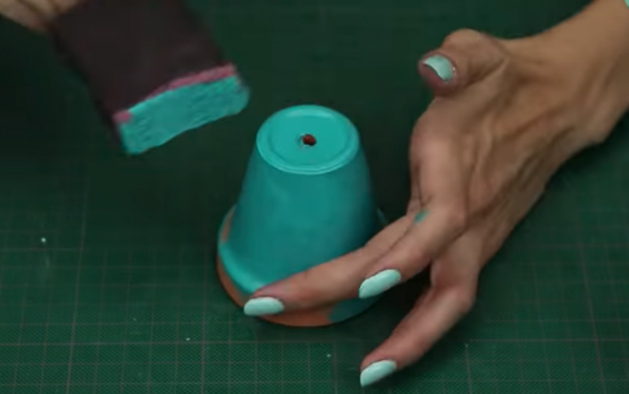 pintado de maceta para suculentas de tela