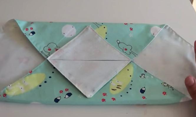 planchado de funda de tela para caja de pañuelos