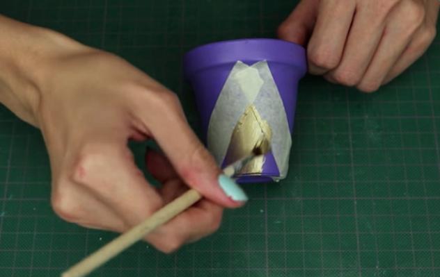 realización de decoración en macetas para suculentas de tela
