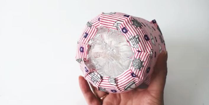 adhesión de tela para decoración de frasco de vidrio