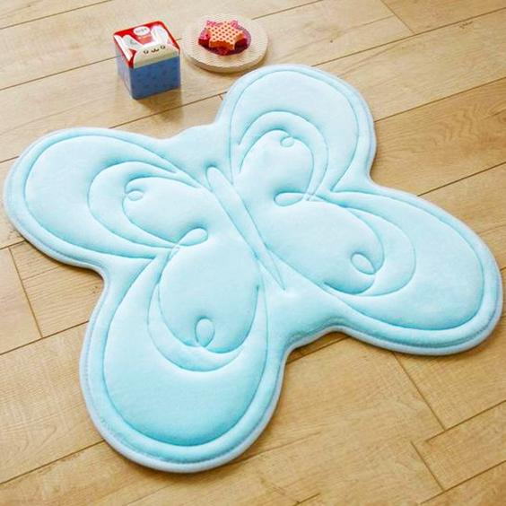 alfombra de tela en forma de mariposa extratip