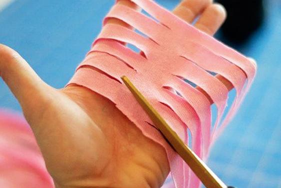 cortes de tira de tela para alfombra en forma de mariposa