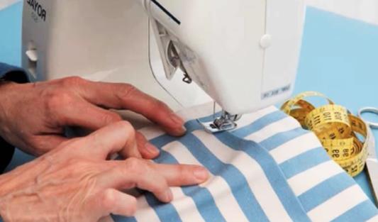 costura de bolsillo para porta comandos de tela