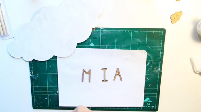 pegado de tela en letras para cartel