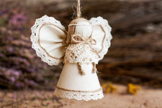 angelito de tela para navidad extratip