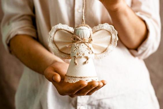 Cómo hacer un angelito de tela.