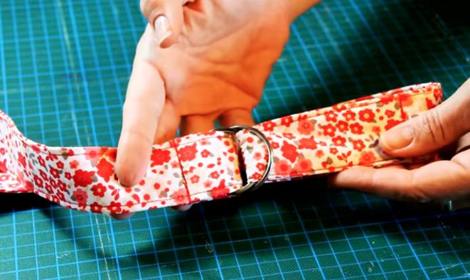cinturón de tela terminado