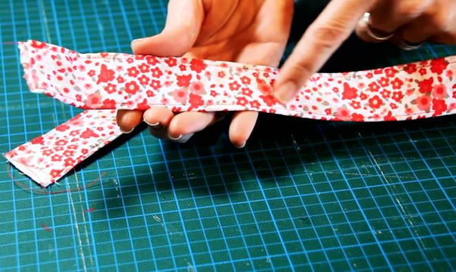 costura de tela y entretela para cinturón