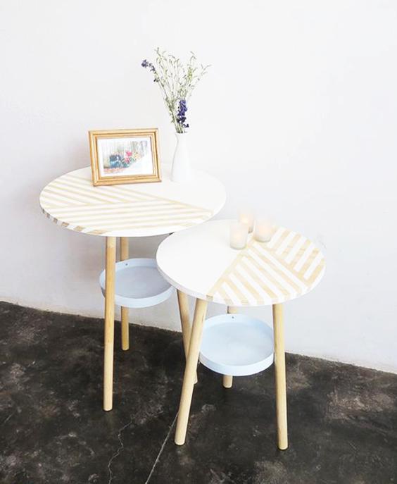 mesa reciclada con tela extratip