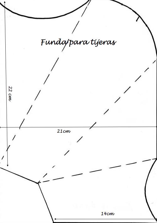 patrón para porta tijera de tela