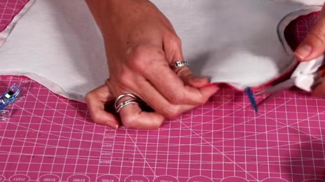 quita de alfileres y sobrantes para porta tijera de tela