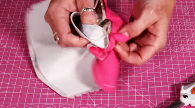 vuelta de pieza para porta tijera de tela