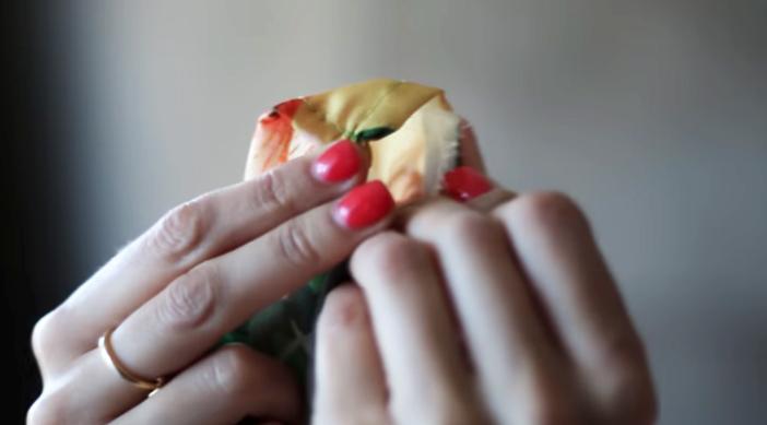 dobles de tela para breteles de maxi vestido