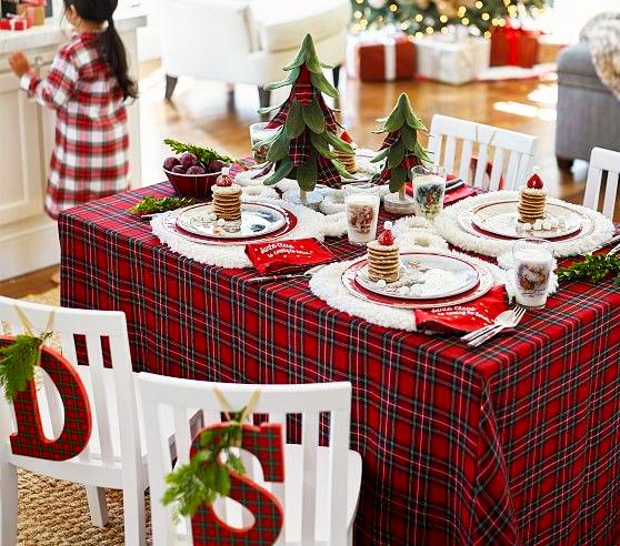 mantel navideño de tela extratip