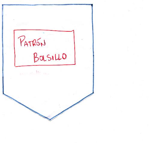 descarga de patrón de bolsillo para costumización de remera con tela