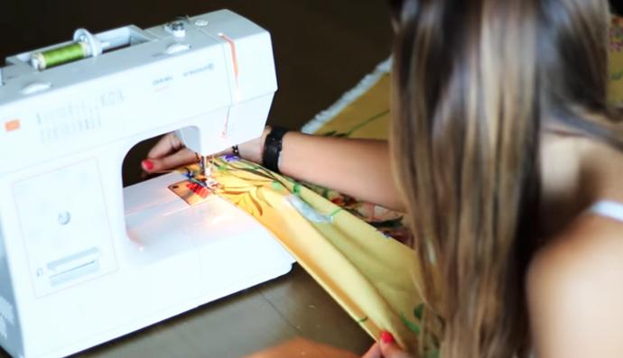 remate de bordes de tela para maxi vestido