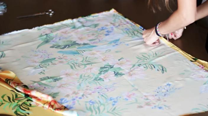 unión de telas para maxi vestido