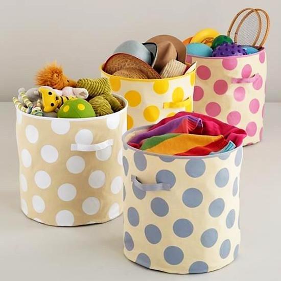 Cómo hacer un cesto de tela para juguetes