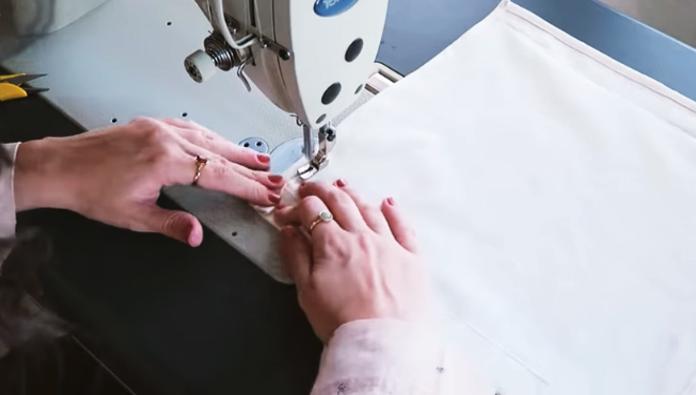 costura de dobladillo para bolsa de tela para residuos de auto