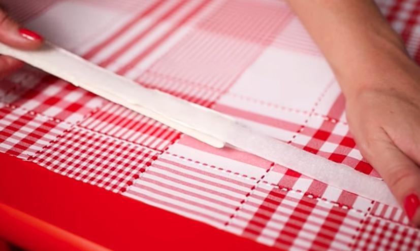 colocacion de velcro en tela para cortina bajo mesada