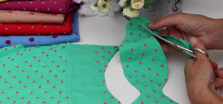 corte de peces en tela para guirnalda